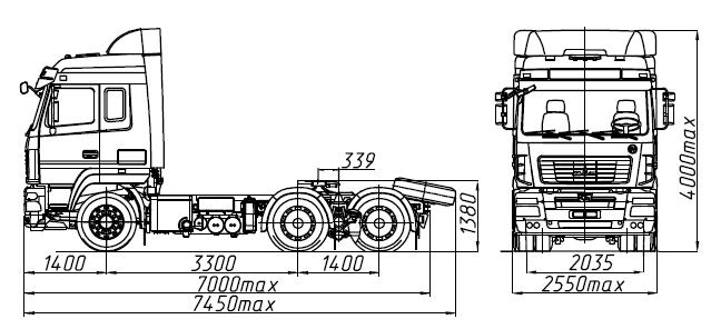 МАЗ 6430E8-520-012